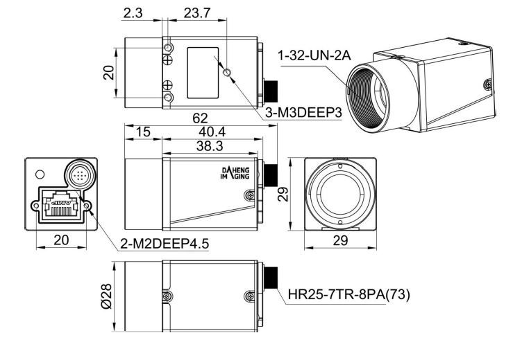EHD Products: Daheng-Imaging Cameras with USB3 0 or GigE PoW Interface